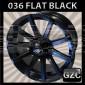 WHITE DIAMOND 0036 20X9.5 5X127 ET+20 CB 87.1 MATTE BLACK