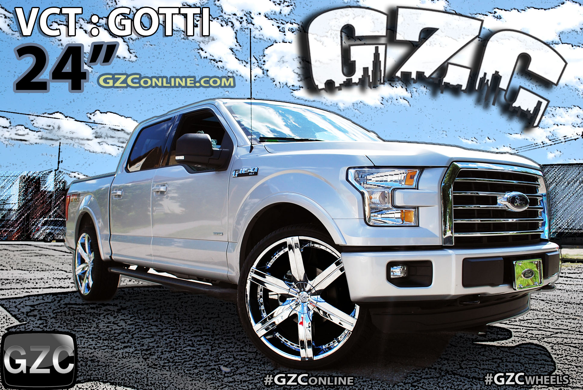 "FORD 24"" CHROME VCT GOTTI WHEELS - GZC Online.com"