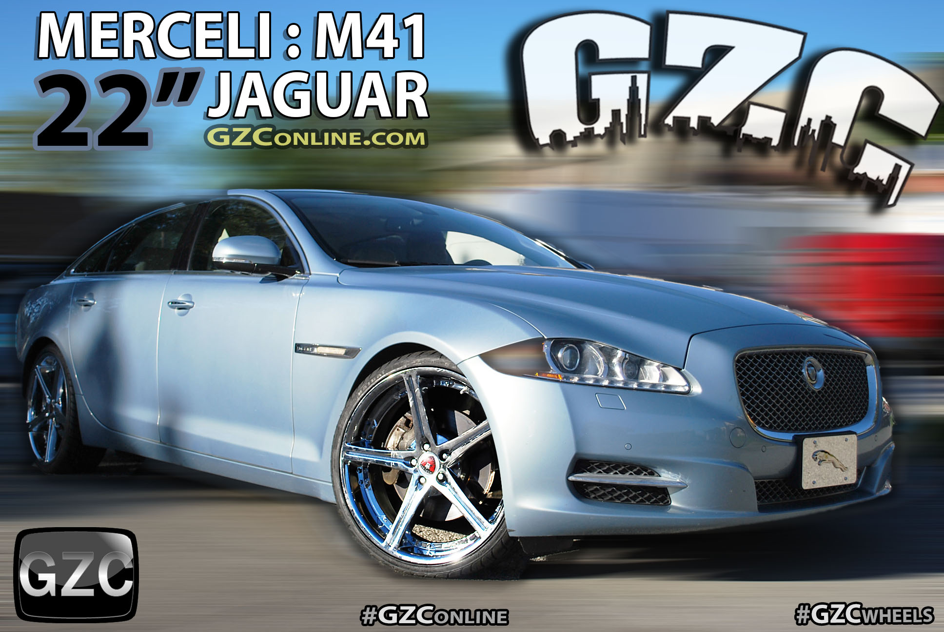 Merceli Wheels 22 Inch Style M41 All Chrome on Jaguar - GZConline