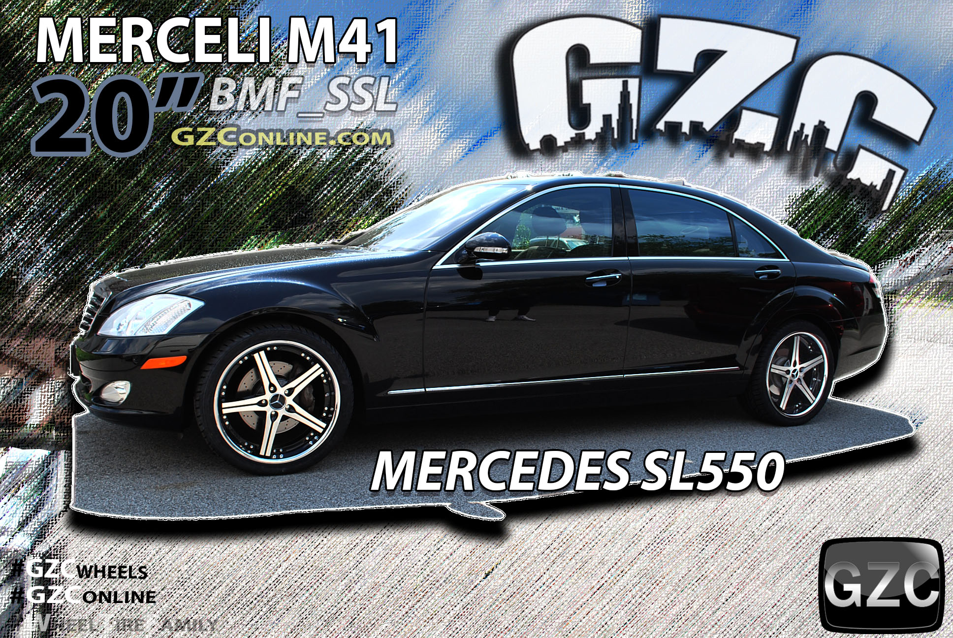 Mercedes SL550 on Merceli M41 Wheels